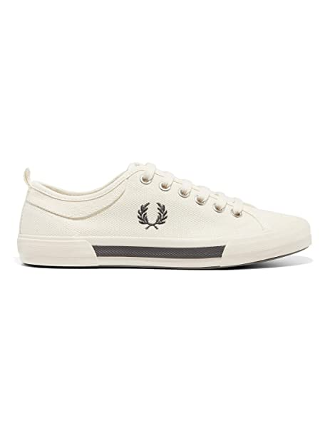 3b3d7446525 Fred Perry Horton Canvas Swow White B3190303
