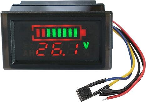 Droking 48V Batterie Au Plomb Indicateur D'électricité