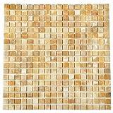 Wallandtile Honey Onyx 5/8'' Polished Mosaic Tile