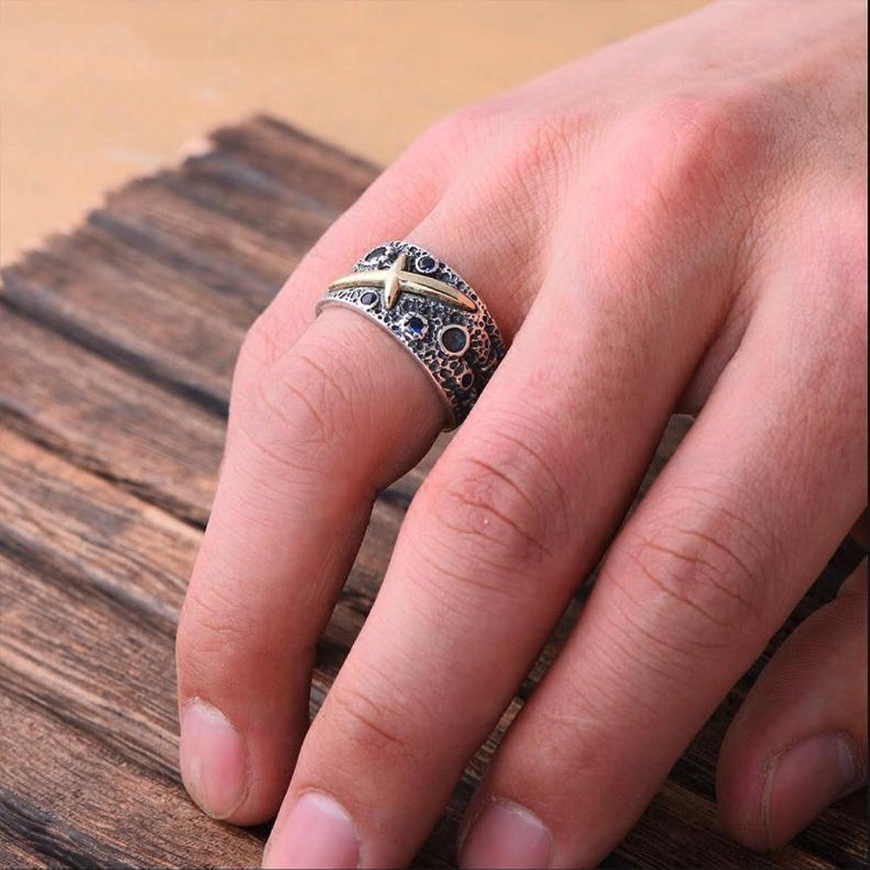 MetJakt Fantasy Starry Sky Sapphire Ring Solid 925 Sterling ...