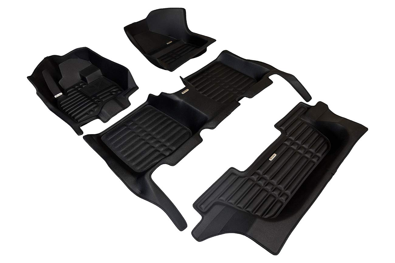 Also Look Great in the Summer./The Best/Hyundai Palisade Accessory TuxMat Custom Car Floor Mats for Hyundai Palisade 7-Seater 2020 Model/- Laser Measured Full Set - Black The Ultimate Winter Mats All Weather Largest Coverage Waterproof