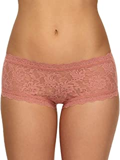 product image for hanky panky Signature Lace Boyshort, Small, Himalayan Pink Salt