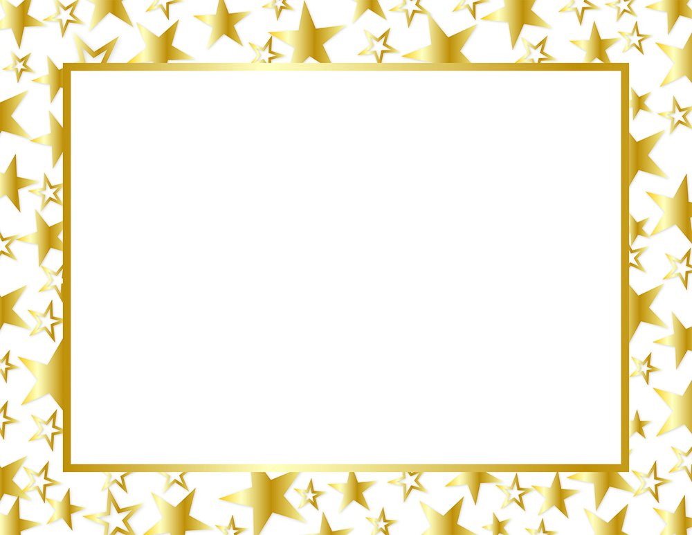 Great Papers! Twinkle Gold Foil Certificate, 8.5 x 11, 50 Count (2014025) 8.5 x 11