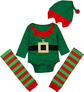 plush red or green Christmas outfit costume photo props infant newborn Santa or Elf coat and hat for babies and toddlers