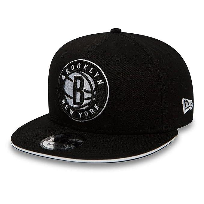 100% authentic a11c9 5b175 New Era NBA Brooklyn Nets 9Fifty Snapback Cap - Black  Amazon.co.uk   Clothing