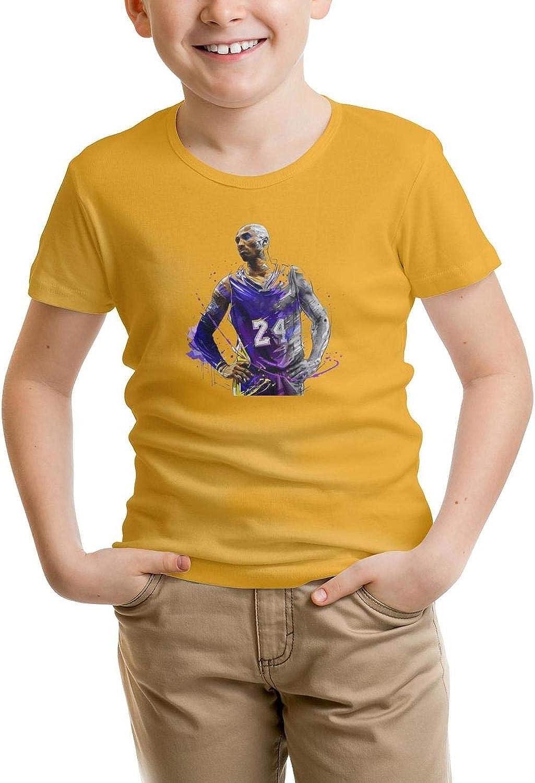 Kids Short Sleeve T-Shirt Running Mamba Classical Original Tee for Boy