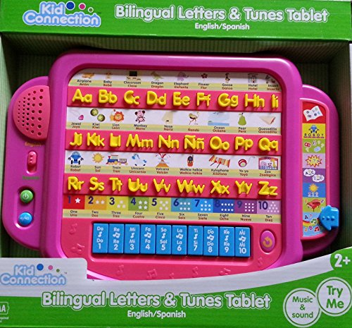 Bilingual Letters & Tunes Learning Tablet - Pink (Tablet Kids Spanish compare prices)