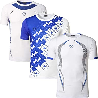 jeansian 3 Packs Hombre Deportes Camiseta T-Shirt Tshirts Sport tee Shirt Workout Fitness LSL182 Pack: Amazon.es: Ropa y accesorios