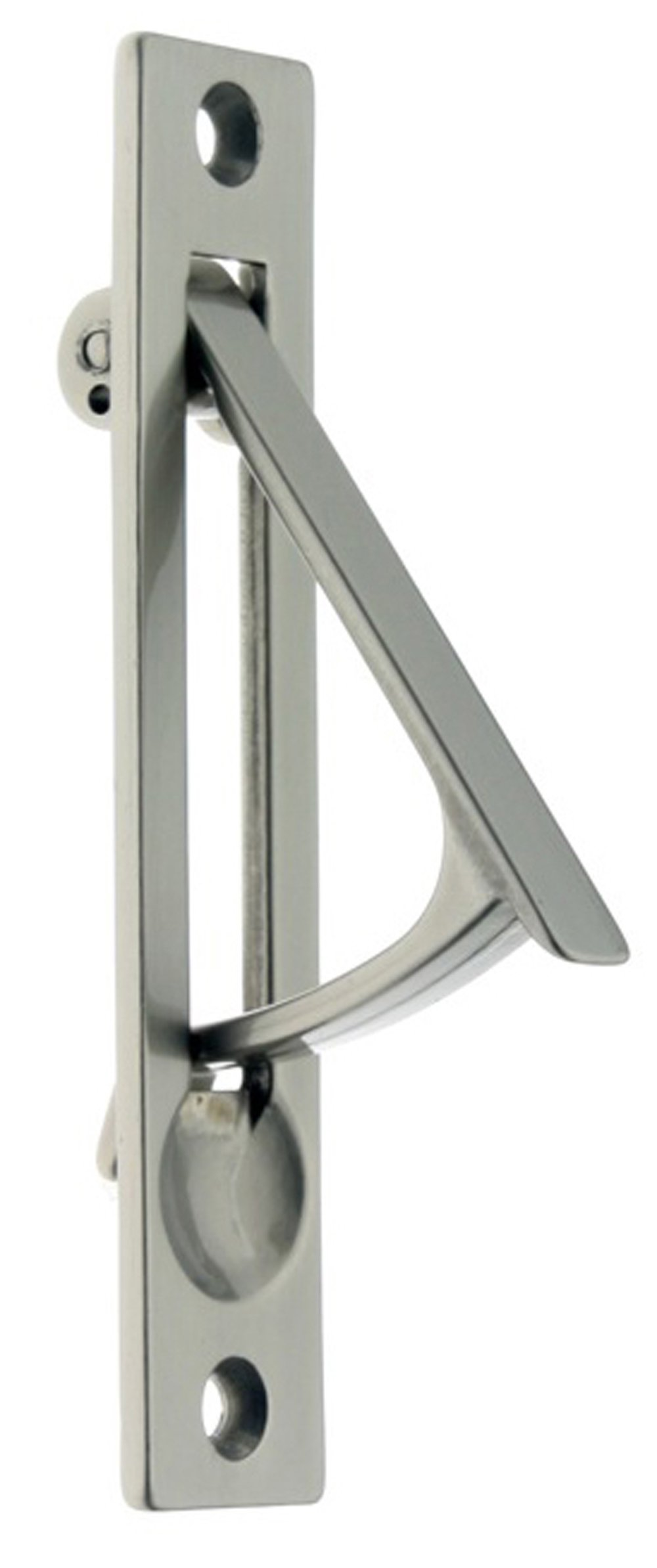 idh by St. Simons 14020-015 Professional Grade Quality Genuine Solid Brass Edge Pull, 4-Inch, Satin Nickel