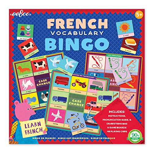 eeBoo French Bingo Game for Kids (Games For Teaching Vocabulary In The Classroom)