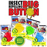 BUG BUTTON - All Natural Mosquito Repelling Badge - Guaranteed to Work - No Messy Lotions, Sprays, or Plastic - Fast & Easy! 30 Day Money Back Guarantee (200)