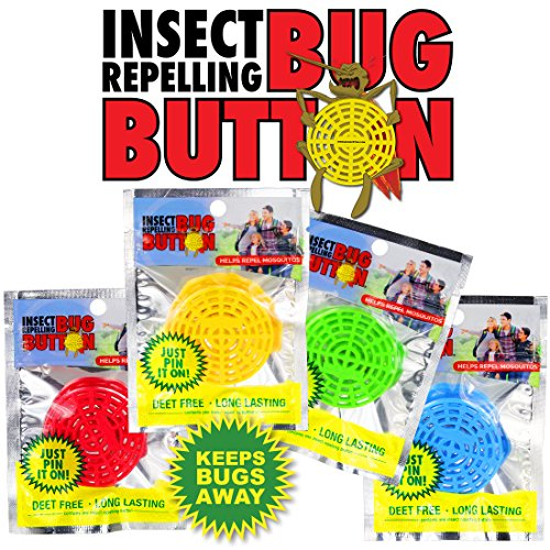 BUG BUTTON - All Natural Mosquito Repelling Badge - Guaranteed to Work - No Messy Lotions, Sprays, or Plastic - Fast & Easy! 30 Day Money Back Guarantee (1,200) by Superband