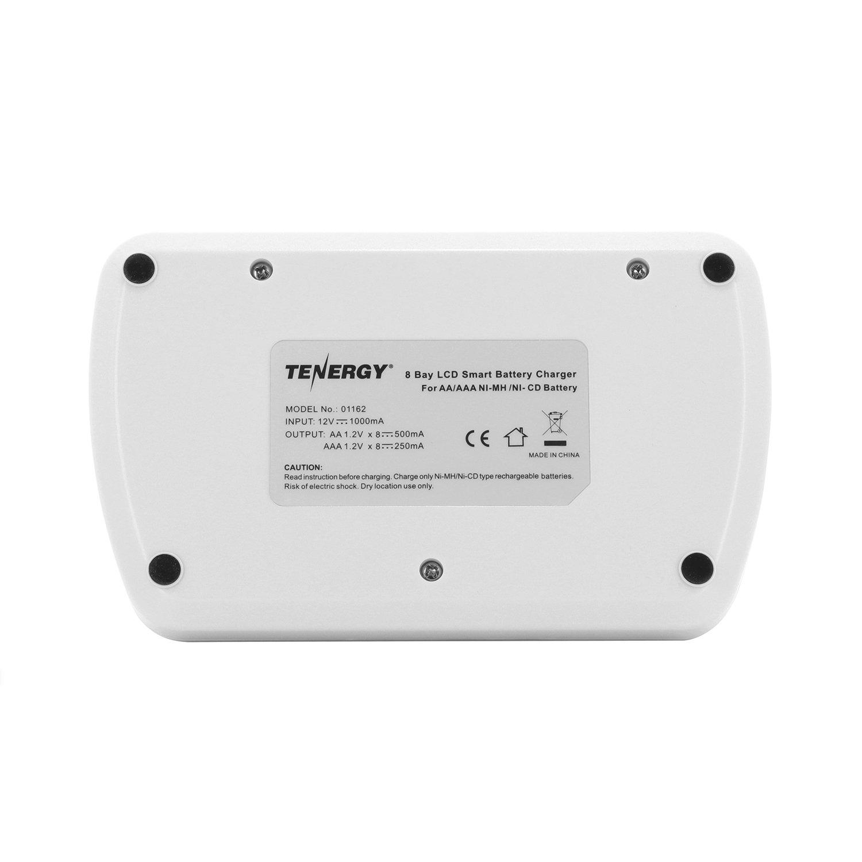 Combo: Tenergy TN162 8-Bay Smart LCD AA/AAA NiMH/NiCd Charger + 16 AAA Premium NiMH Rechargeable Batteries by Tenergy (Image #5)