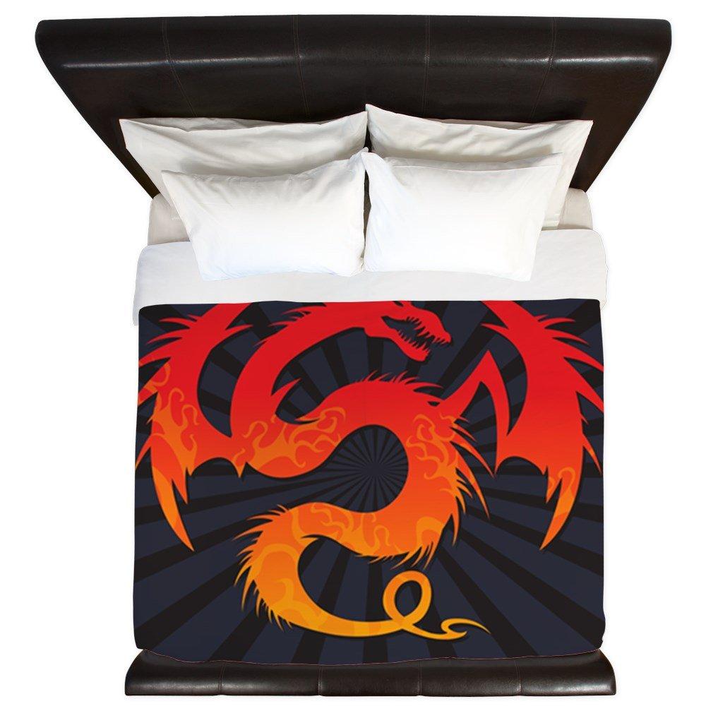 King Duvet Cover Tribal Fire Dragon