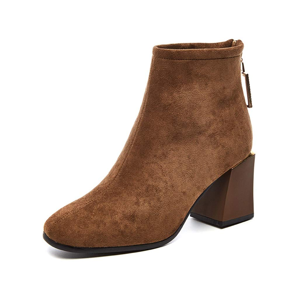 YAN Damen Stiefeletten Wildleder Frühling & Herbst Mode Schuhe Damen Stiefel High Heel Stiefel Party & Abendkleid Schuhe