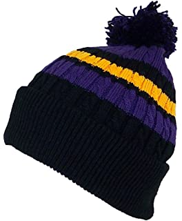 Best Winter Hats Quality Cable Knit Cuffed Winter Cap W Large Pom Pom (One c9c1bb6576c