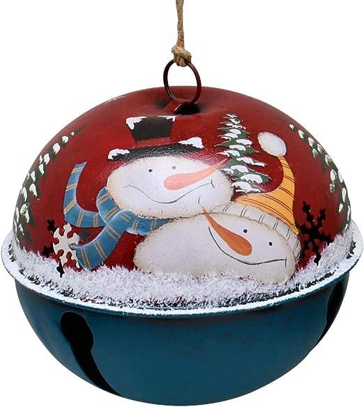 Christmas Jingle Bell Hanging Ornament Metal Xmas Tree Wall Door Decor