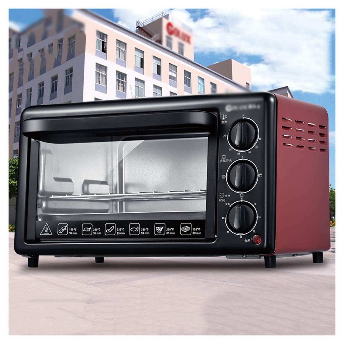 ZCYX ミニオーブン - 多機能電気オーブン19リス電気オーブンボックス家庭用ベーキングケーキピザオーブン -7487 オーブン (色 : 赤) B07RWMDDBS 赤