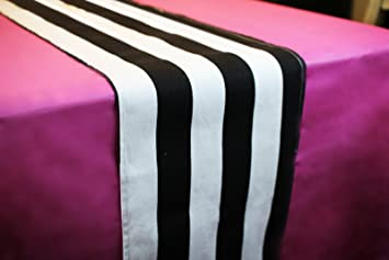 Amazon Com Pink Black And White Party Decorations Includes Striped