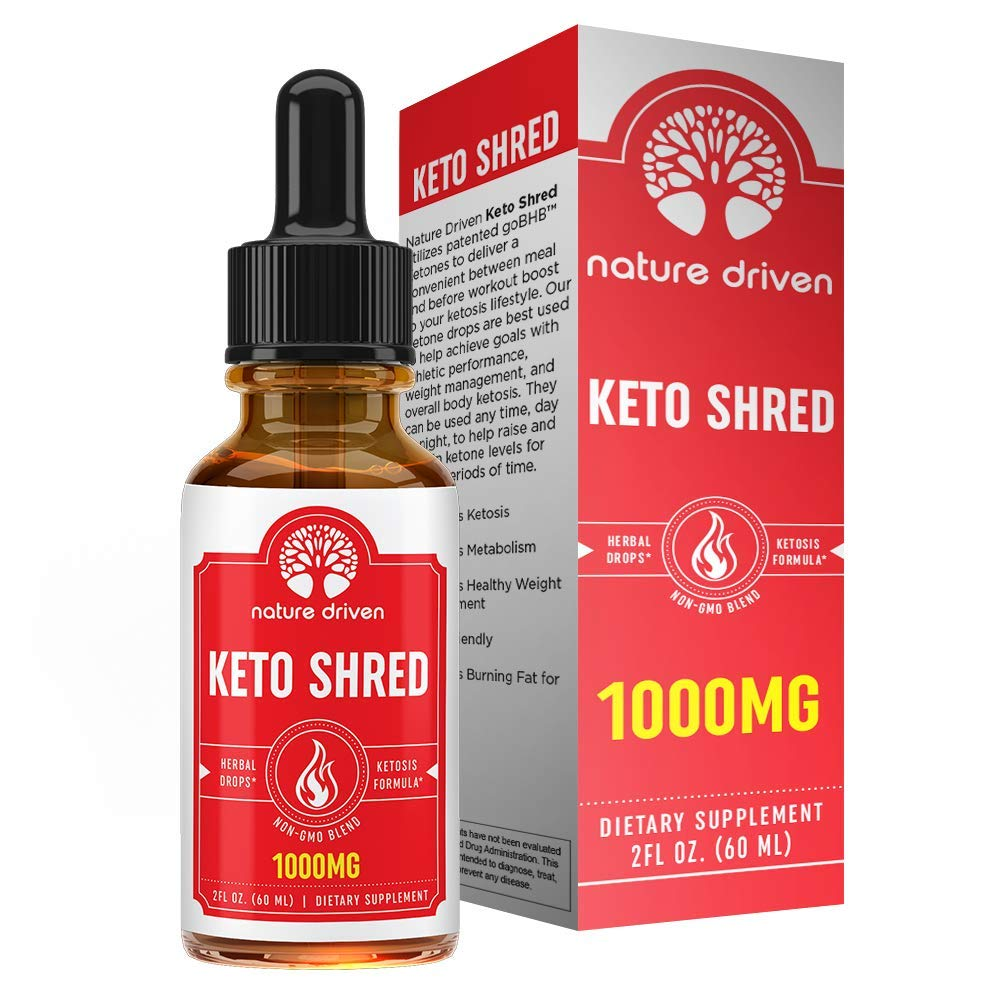 Shark Tank Keto Shred Drops - 1,000mg of goBHB!! Boost Metabolism and Energy - Carb Blocker and Appetite Suppressant - for Men & Women - Lemon Lime Flavor - Ketosis Fat Burner