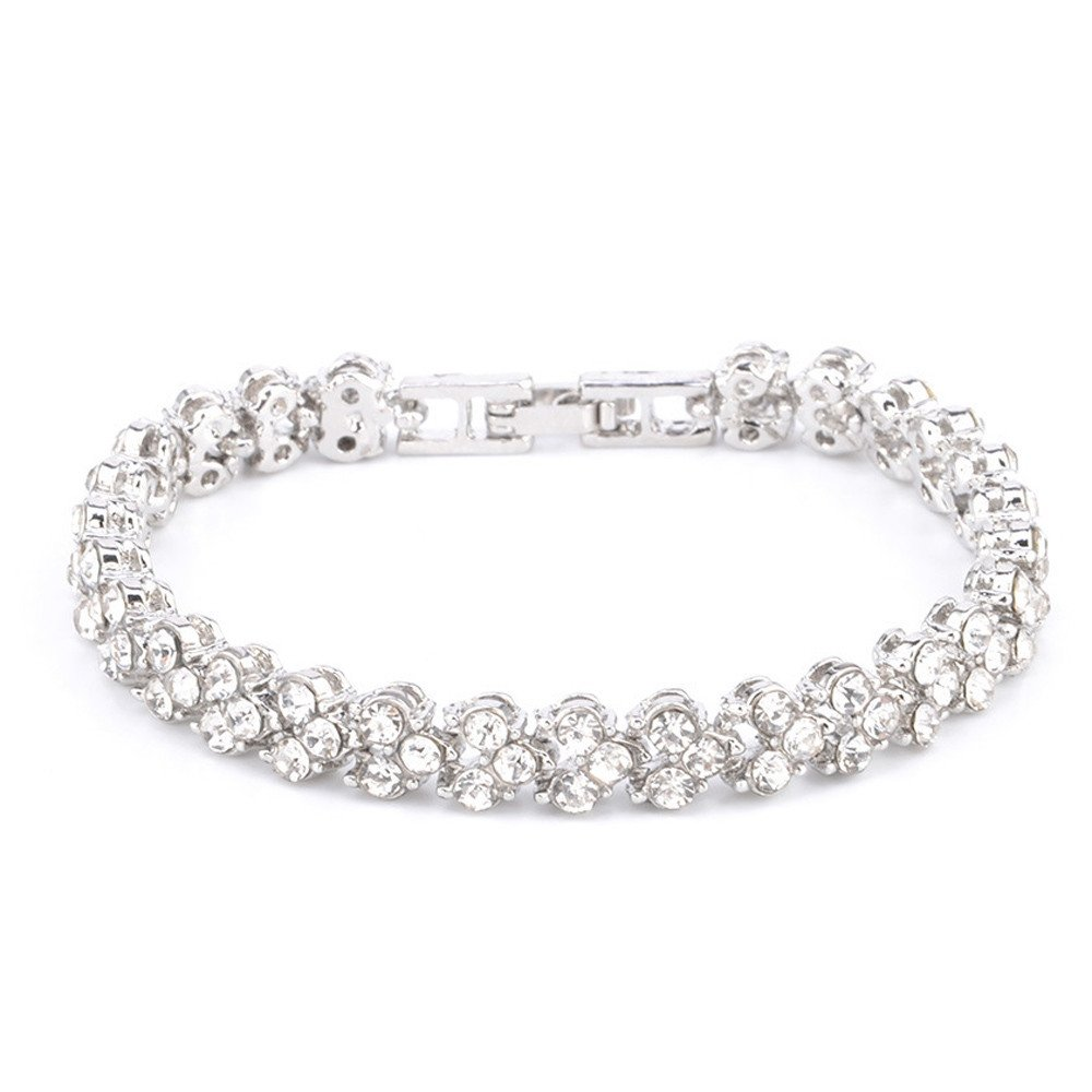 993b0747e JSPOYOU Womens Simple Diamond Diamond Bracelet Crystal Diamond Bracelets  Gifts (Silver): Amazon.ca: Jewelry