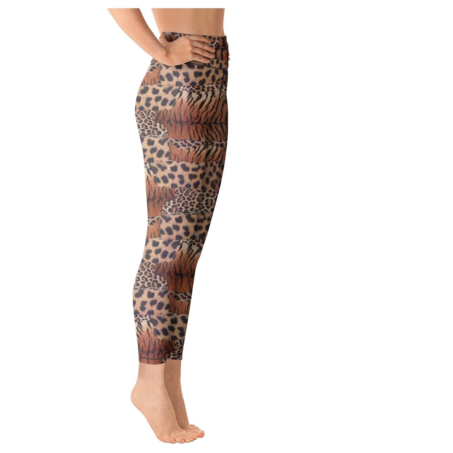 4b01af9a5649a PLOKINC Yoga Pants for Women for Womens Printed Yoga Leopard Cheetah Print  Colorful High Waist Opaque Tights at Amazon Women's Clothing store: