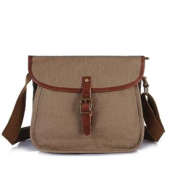 eac6f61714 Amazon.com  KRPENRIO Simple Retro Zip Canvas Shoulder Bag Messenger ...