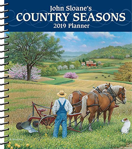 John Sloane's Country Seasons 2019 Monthly/Weekly Planner - Monthly Desk Scenic