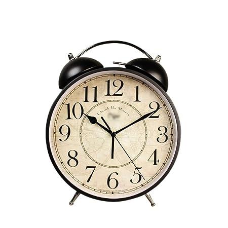 UZZHANG Despertador Decoracion de Escritorio Mudo Reloj de Mesa ...