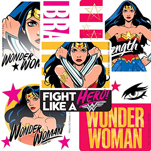 Children's Party Favor Stickers - Large Stickers (Wonder Woman Stickers)