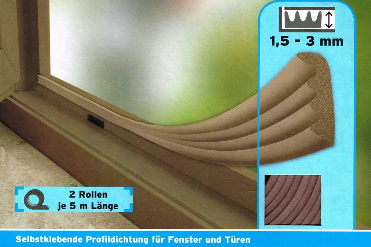 Powerfix® Profi Gummidichtug, selstklebend fü r Fenster & Tü ren (E-Profil - Weiß ) suki.internatinoal GmbH