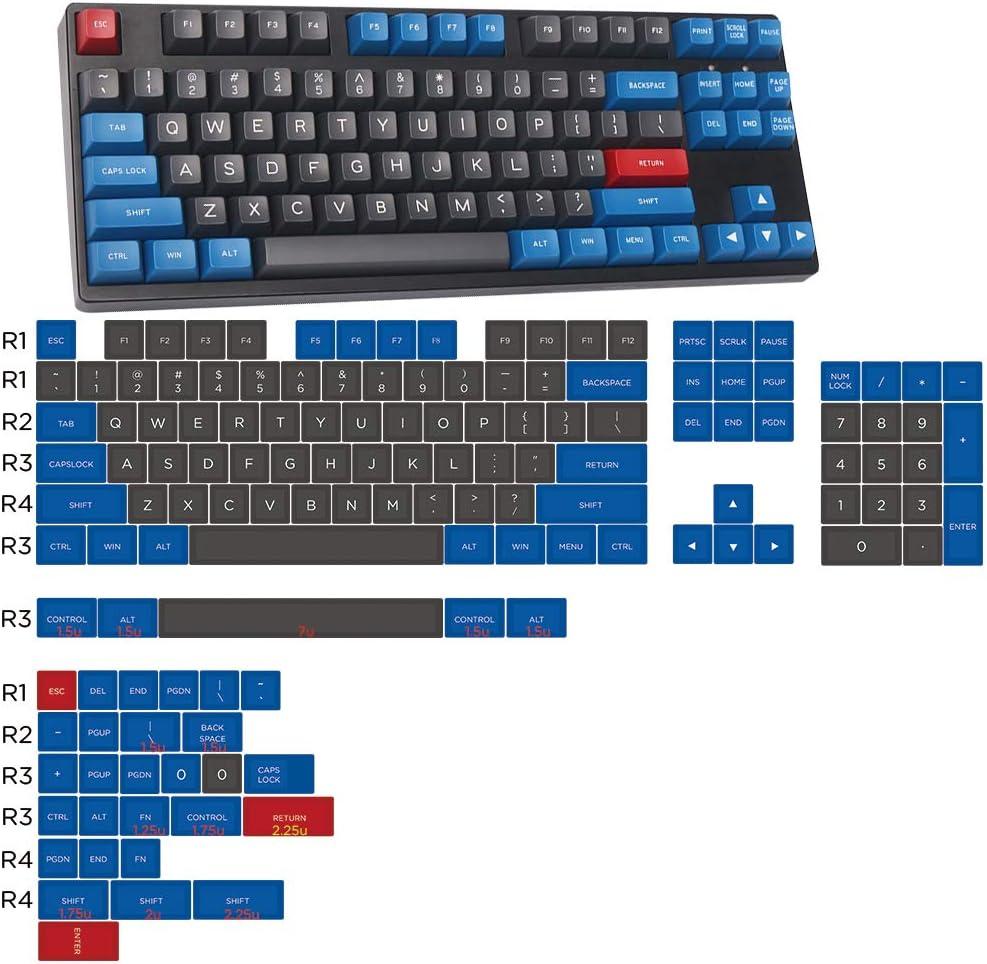 SSSLG SA Keycaps ABS Material Blue Gray 137 Keys 104 Base Key Cap + 33 Auxiliary Key Cap