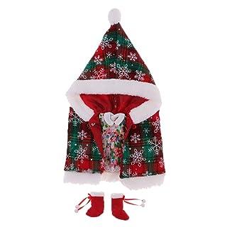 KESOTO Vestito Da Bambola Di Natale Vestito Da Cappotto Del Mantello Vestito Per 12 'vestiti Da Bambola Blythe