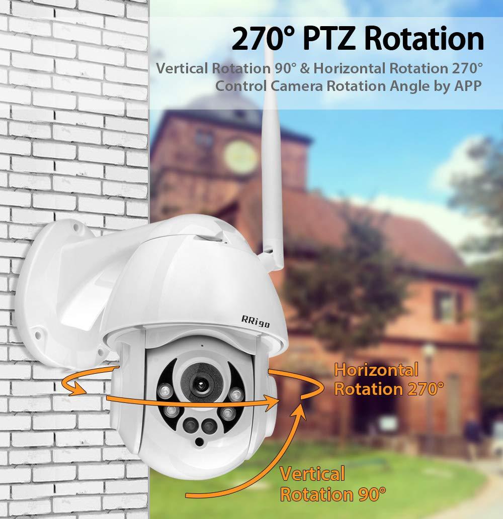C/ámara IP Exterior C/ámara de Vigilancia wifi IP66 Impermeable Seguridad Inal/ámbrica C/ámara HD 1080P //Audio Bidireccional//Detecci/ón de Movimiento Soporte de tarjeta SD