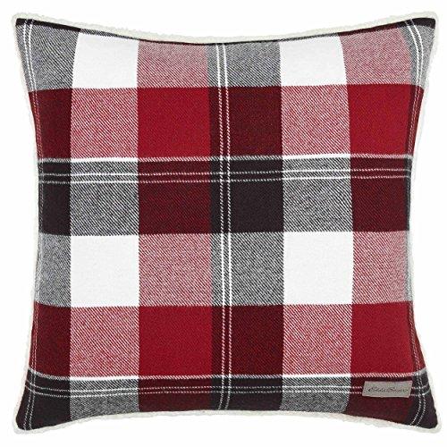 Eddie Bauer Lodge Red Plaid Throw Pillow, 20 x 20,