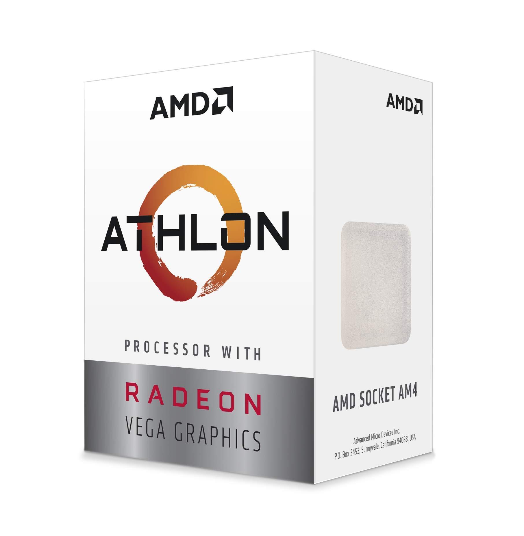 AMD Athlon 200GE 2-Core 4-Thread AM4 Socket Desktop Processor with Radeon Vega Graphics (YD200GC6FBBOX) by AMD