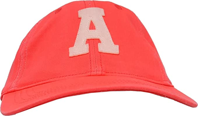 7a3d0732532fc American Eagle Outfitters Bright Coral with White A Logo Adjustable Fabric  Strap Adult Baseball Cap  Amazon.co.uk  Clothing
