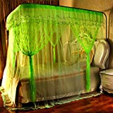 Princess wind u-shaped retractable mosquito net,Court Floor Double Home Encrypted Thick bed canopies-A 180x220cm(71x87inch)