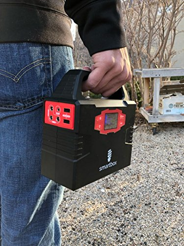 Smartbox Powerful Solar Generator –Portable Power Charging Station With Multiple USB & AC Outlets–100-Watt Emergency Solar Battery Charger With Ultra-Bright LED Light For Outdoor Activities by Smart Box (Image #8)