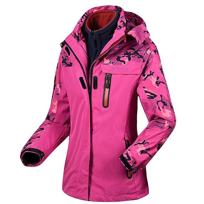 Amazon.com: Abrigo de invierno para mujer de dos piezas ...