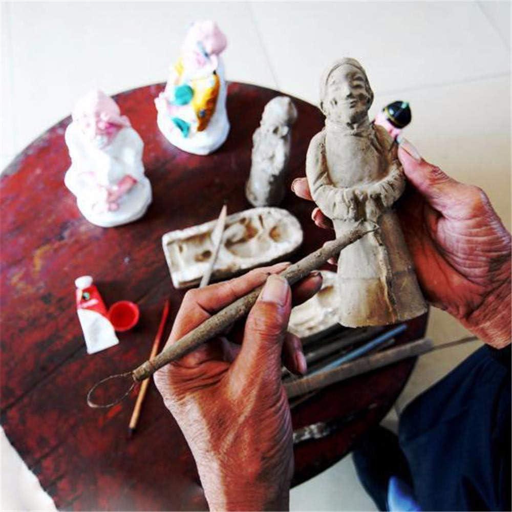 LQKYWNA Lot de 7 outils /à double extr/émit/é en acier inoxydable pour poterie c/éramique avec poign/ée en aluminium