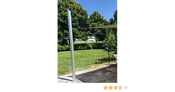 Maanta Palo de Anclaje para toldos de vela con regulación de altura - Altura 2,80mt. - Inclinaciones de la base 90° - Diseño exclusivo: Amazon.es: Jardín