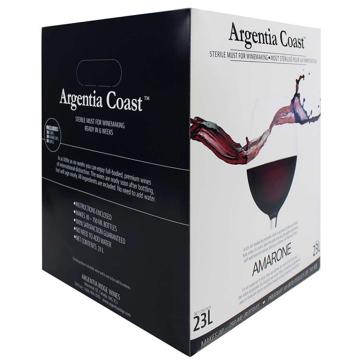 Argentia Ridge Coast Reserve Amarone Red Wine Kit