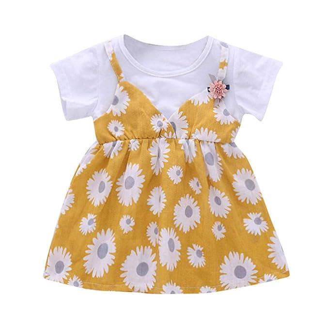 Vestido bebe niña, Vestido de Niña Girasol Vestido de Manga ...