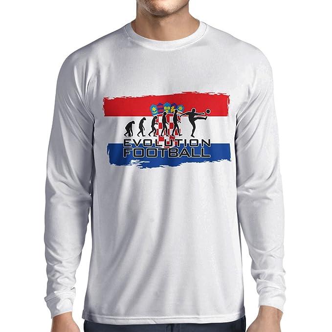 lepni.me Camiseta de Manga Larga para Hombre La Evolución del Equipo Nacional de Fútbol de Croacia, Copa Mundial 2018 Rusia: Amazon.es: Ropa y accesorios