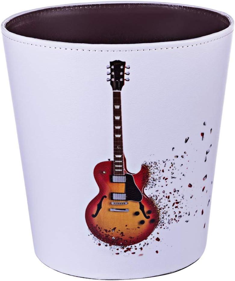 YxFlower - Papelera de Piel Impermeable, 10 L, Cubo de Basura para niños, 25 x 20 x 27 cm, Guitarra 4, PU, 1, 25x20x27cm
