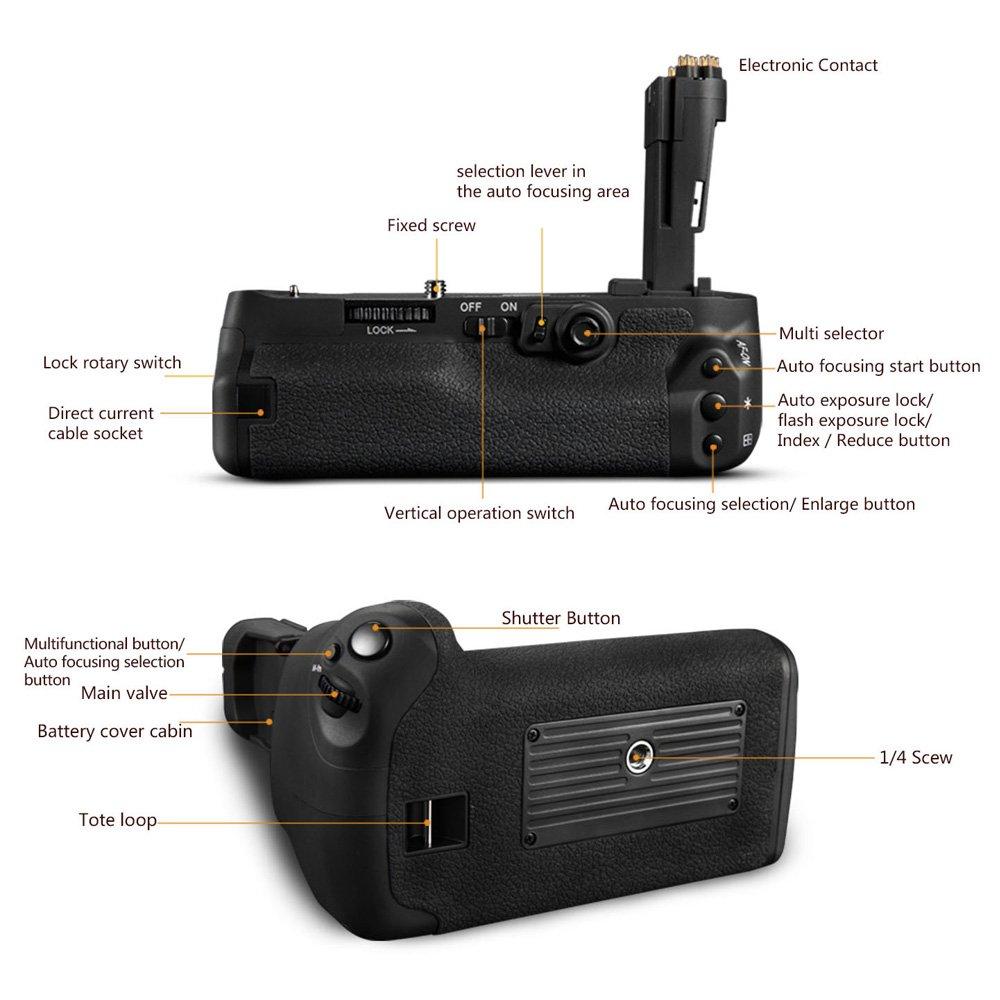 PIXEL BG-E11 Cameras Battery Grip for Canon EOS 5D Mark iii 5DIII 5D3 5DS 5DSR