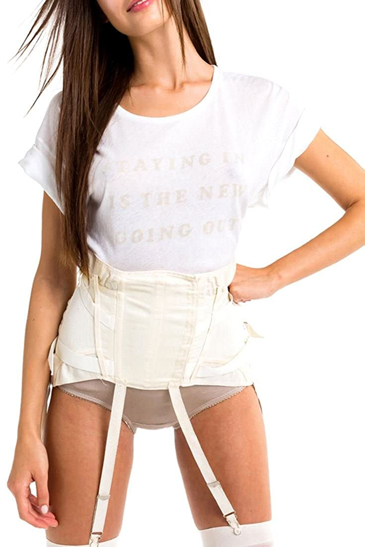 White Wildfox  Women's Let's Stay In Manchester Tee  Clean White