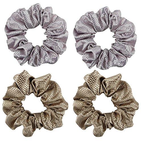 BETITETO Satin Scrunchies Large Cute Bobbles Ponytail Holder Vintage Hair Bands Ties for Women Girls