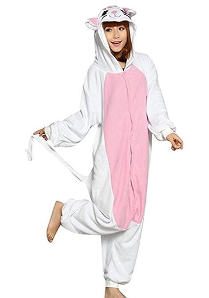 HSTYLE Adulto Unisex Mamelucos Kigurumi Pijamas Animal Trajes de Cosplay de dibujos animados ropa de dormir Gato: Amazon.es: Ropa y accesorios